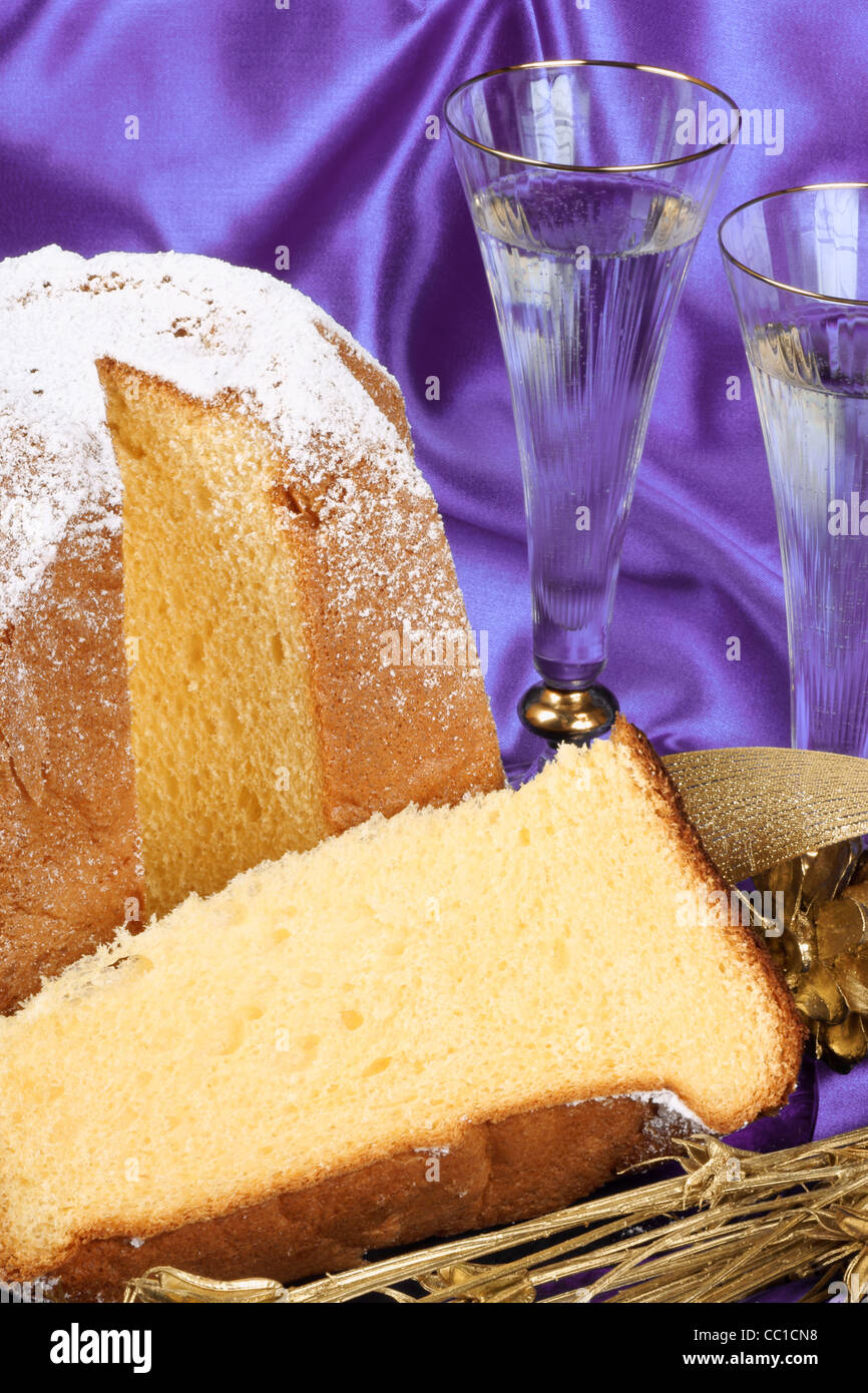 Weihnachten Komposition Mit Pandoro Der Goldene Kuchen Von Verona