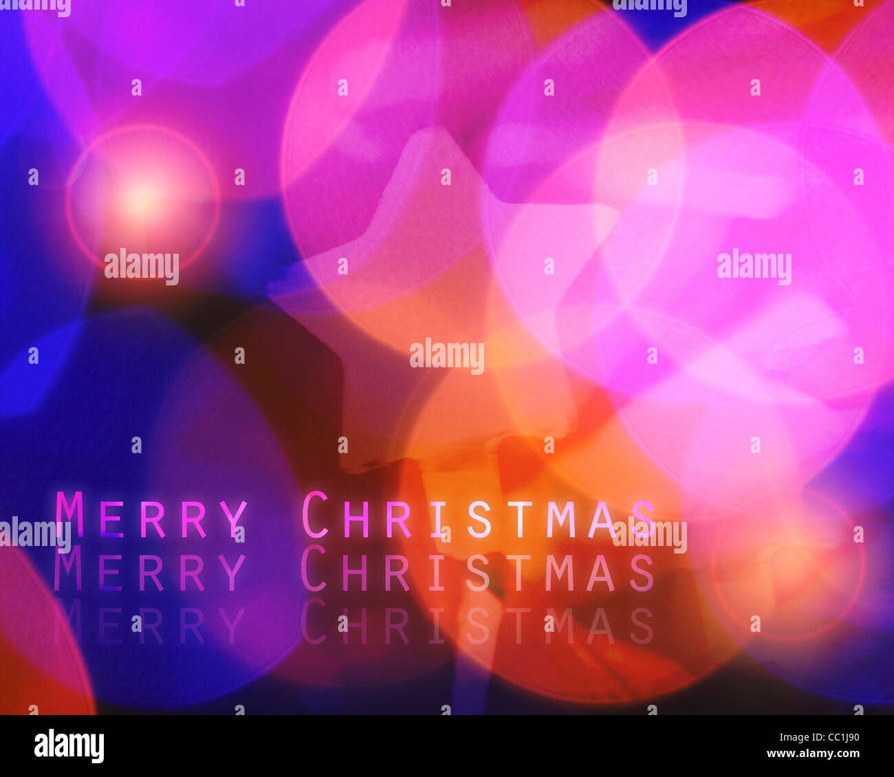 Weihnachten-Konzept: Frohe Weihnachten Stockbild