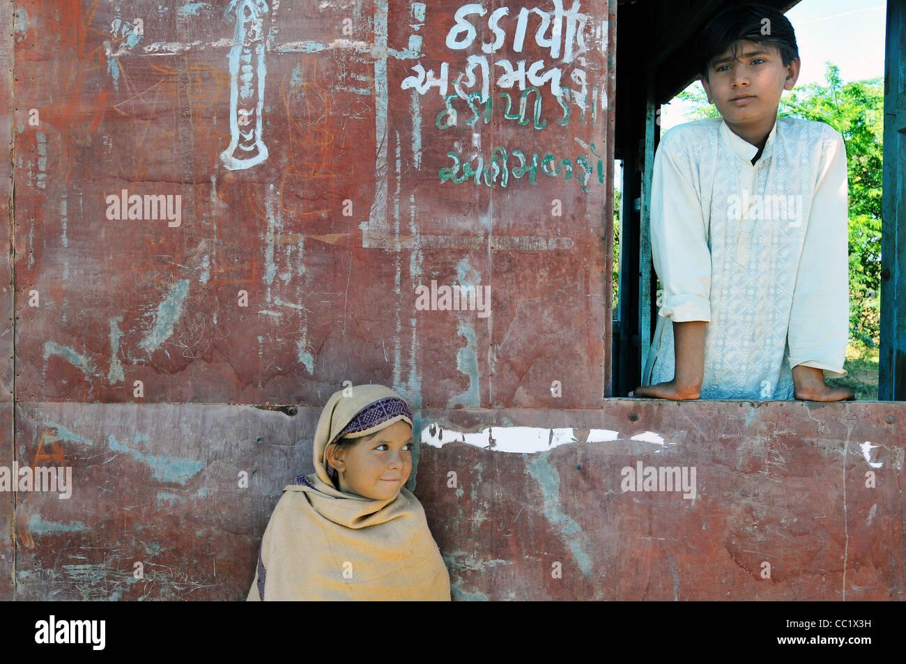 Menschen in Kutch - westlichen Indien Stockbild