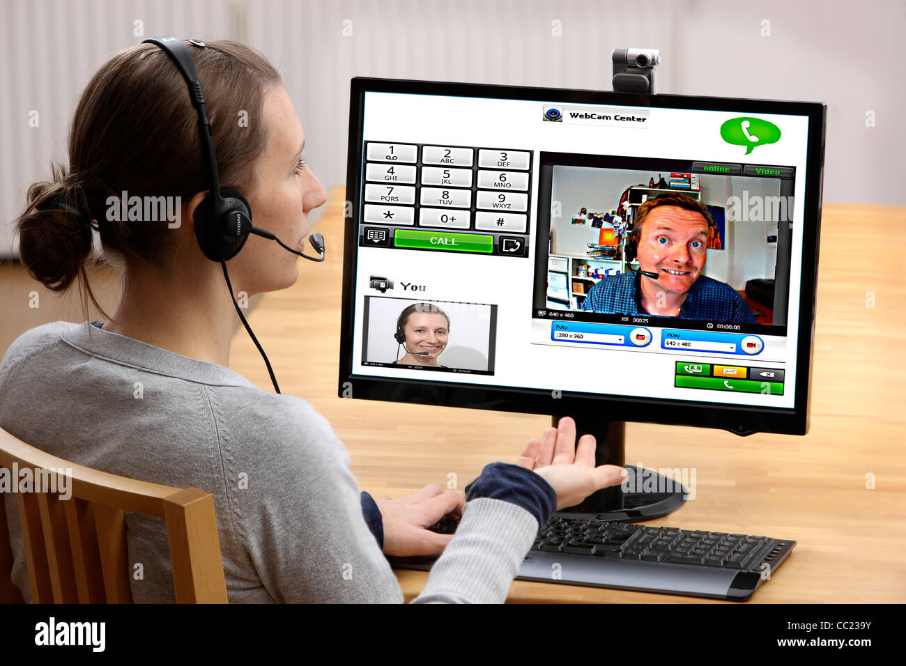männlicher Video-Chat