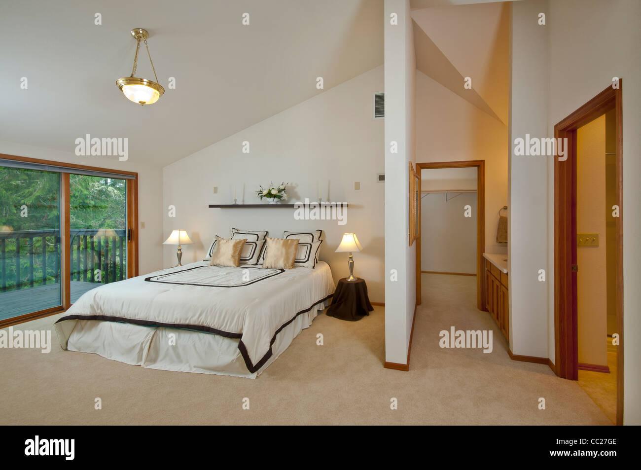 Master-Schlafzimmer Luxus-Haus, mit begehbarem ...