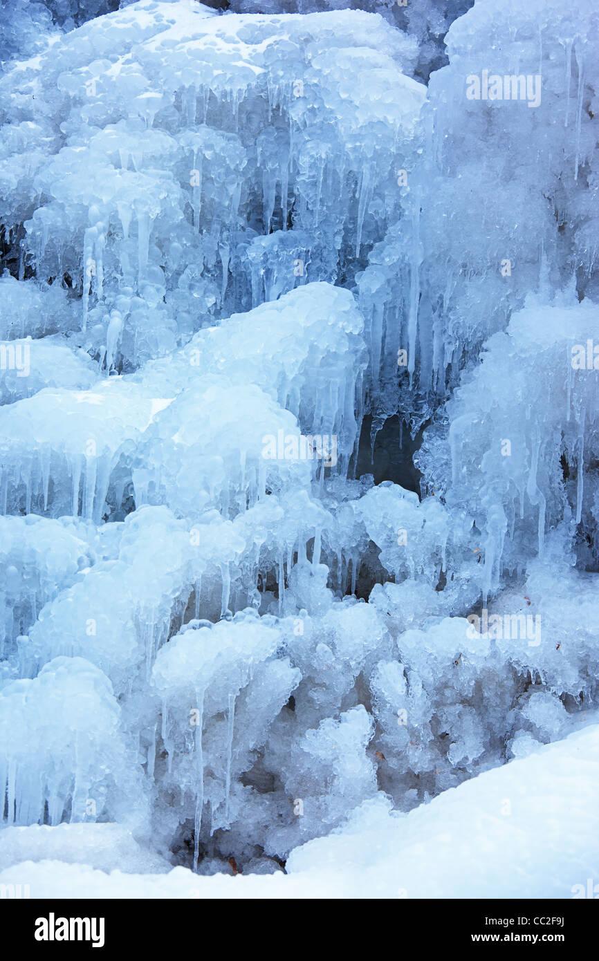 Eis-Herbst-Hintergrund Stockbild