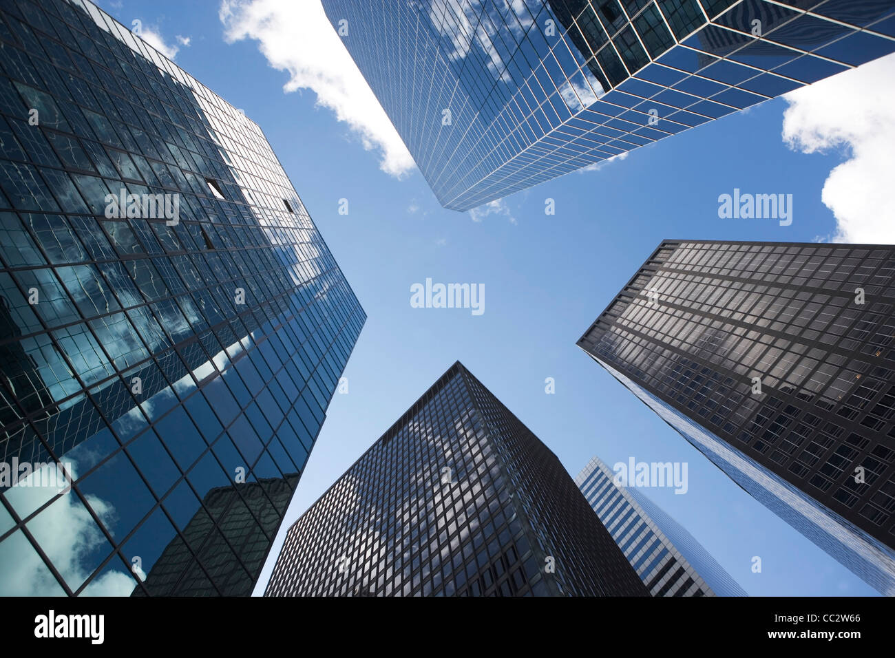 USA, New York State, New York City, modernen Bürogebäuden Stockbild