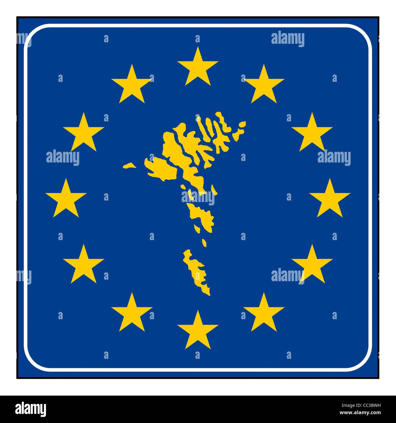 Färöer Inseln Karte.Färöer Inseln Karte Anklicken Blau Und Sternenhimmel Europäischen