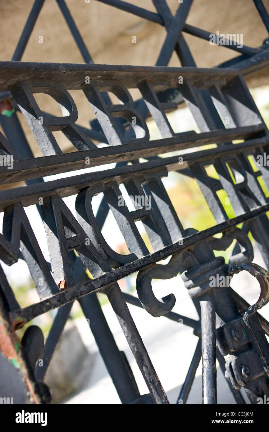 Tore zum Konzentrationslager Dachau Stockbild