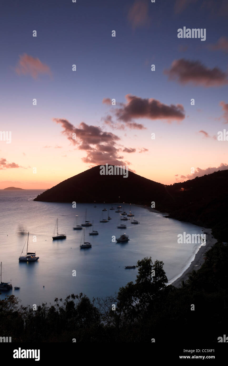 Karibik, Britische Jungferninseln, Jost Van Dyke, White Bay Stockbild