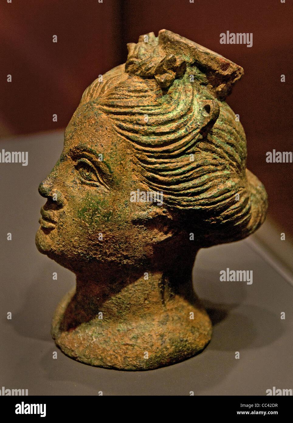 Frau Balsamarium kleinen Behälter Weihrauch Parfüm Flasche etruskische Italien Etrurien 3 Cent BC Stockbild