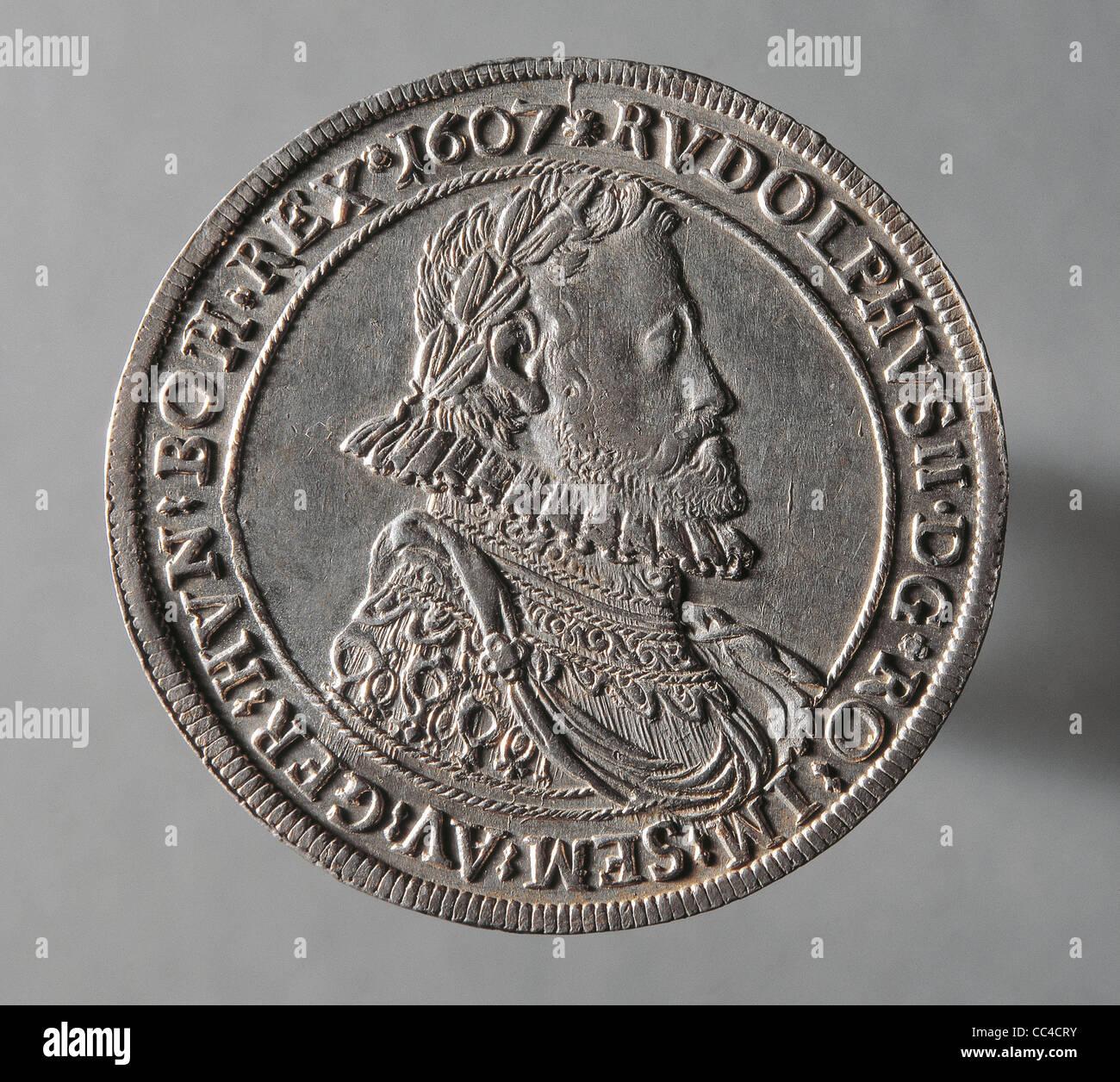 Münze 17 Jahrhundert Aels Silber Zu Kaiser Rudolf Ii Von Habsburg