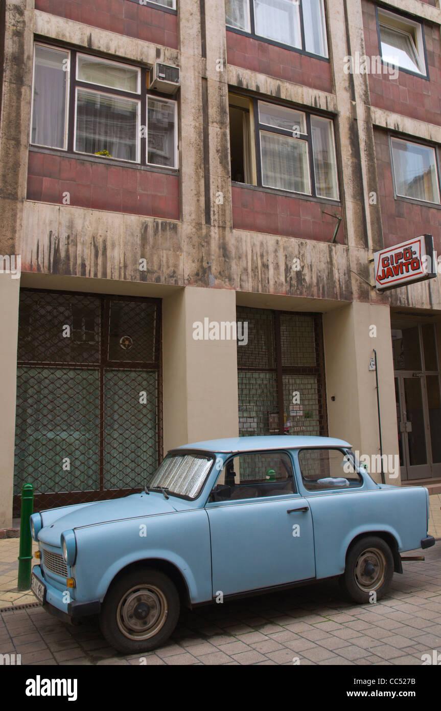 east german trabant cars parked stockfotos east german. Black Bedroom Furniture Sets. Home Design Ideas