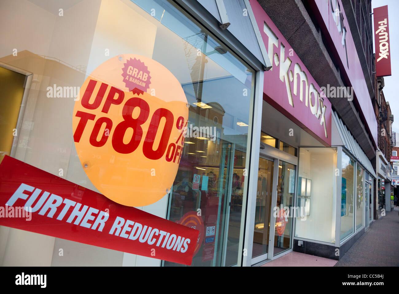 verkauf bei tk maxx mode shop, bromley high street, bromley