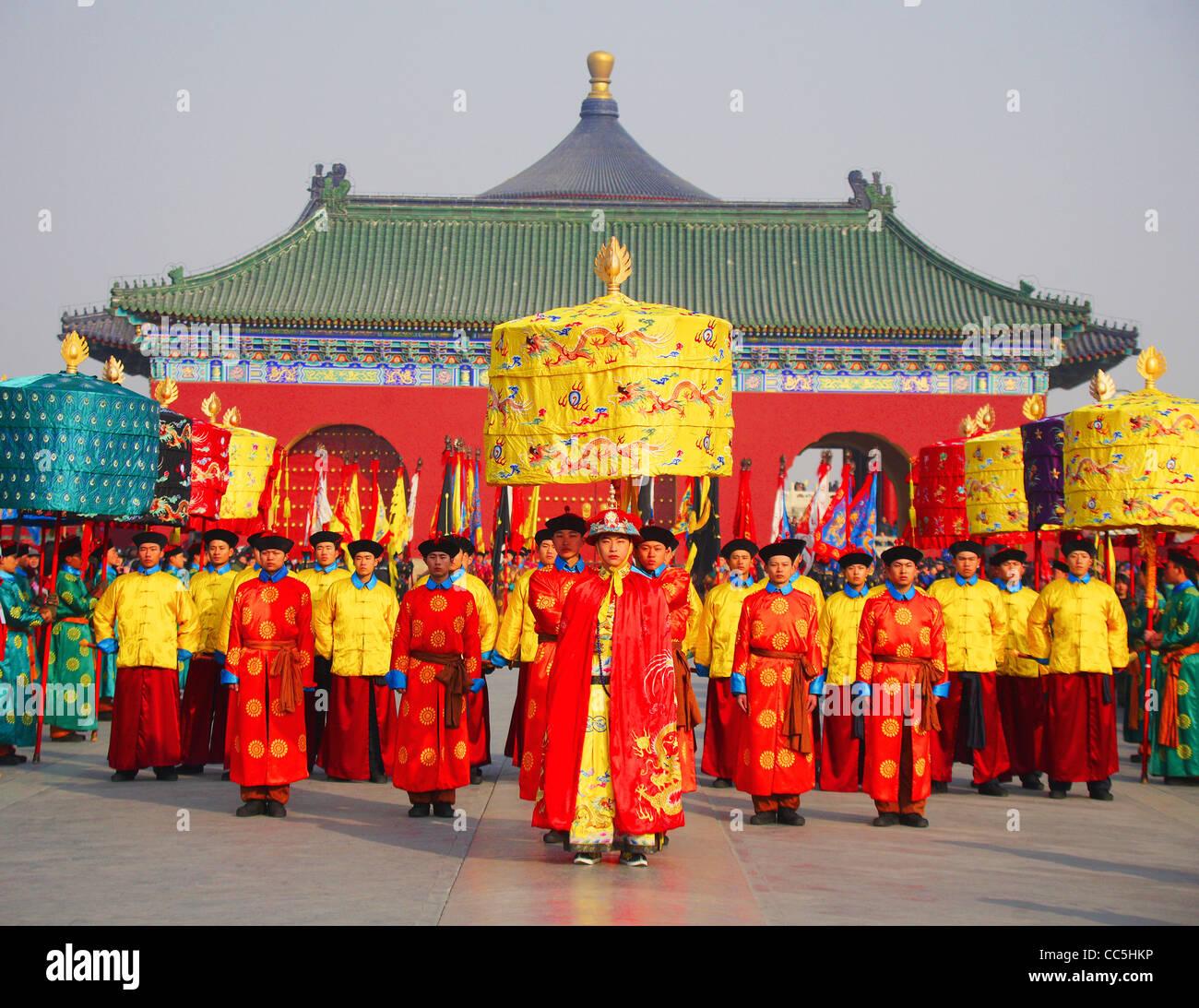 Verehren Himmel Zeremonie im Himmelstempel, Beijing, China Stockbild