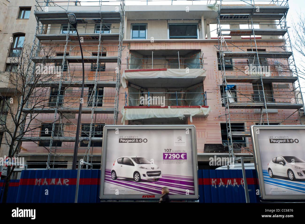 Paris Frankreich Wohnung Hochbau Aussenmontage Wand Isolierung