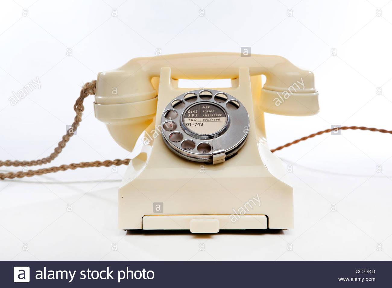 Ein altmodisches Telefon Stockbild