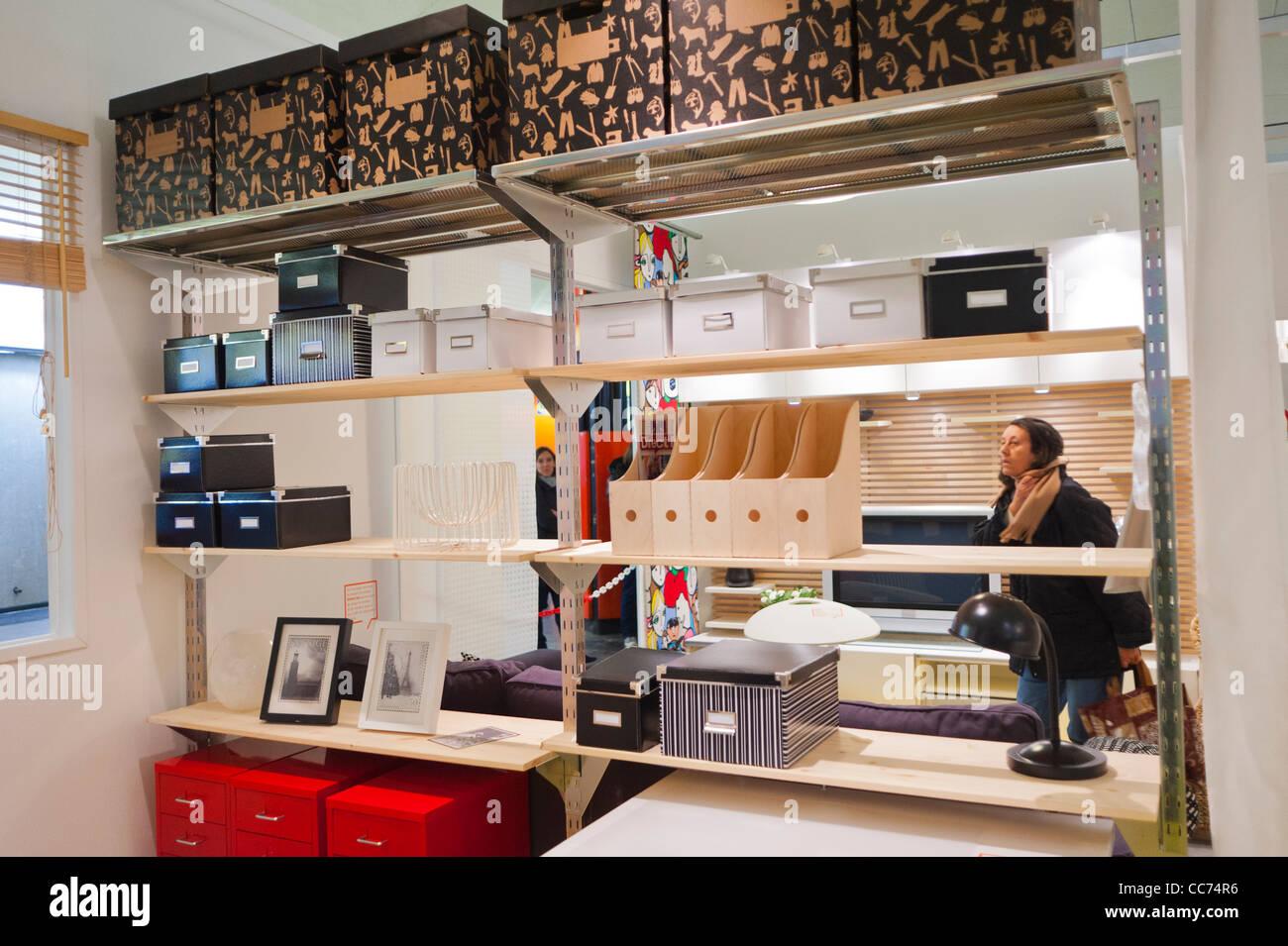 Paris Frankreich Werbung Möbel Einkaufen Ikea Möbelhaus Wohnung