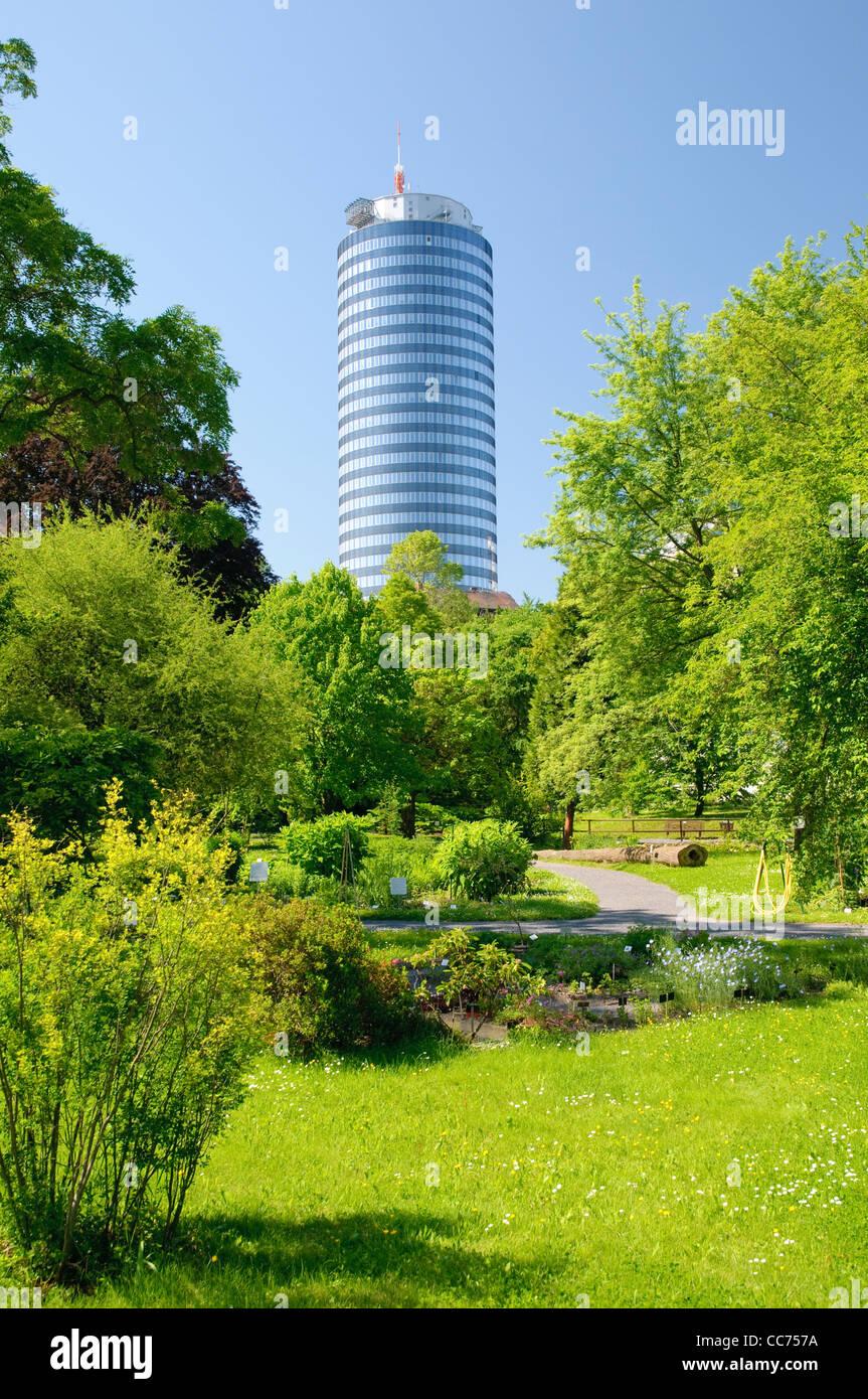 Jentower Und Botanischer Garten Jena Thüringen Deutschland