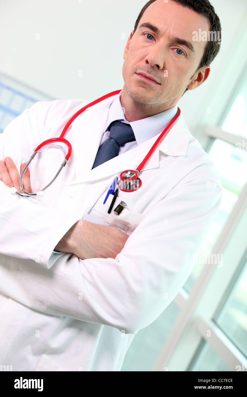 Porträt von männlichen Arzt Stockbild