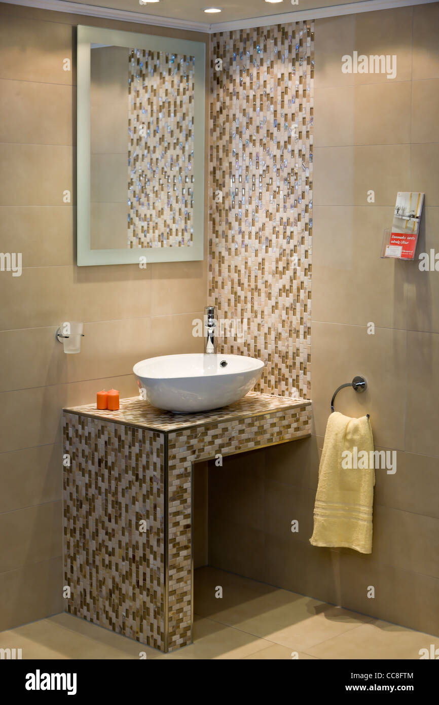 Moderne Rustikale Badezimmer Interieur