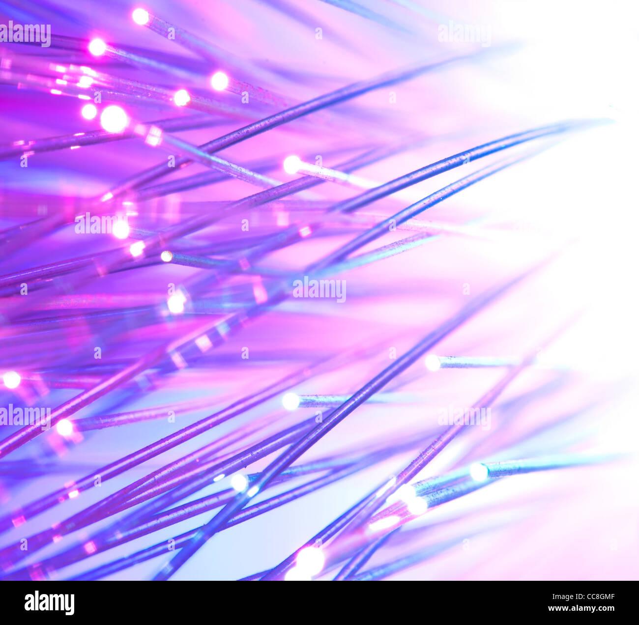 Lichtleitfasern helle Farben Stockbild