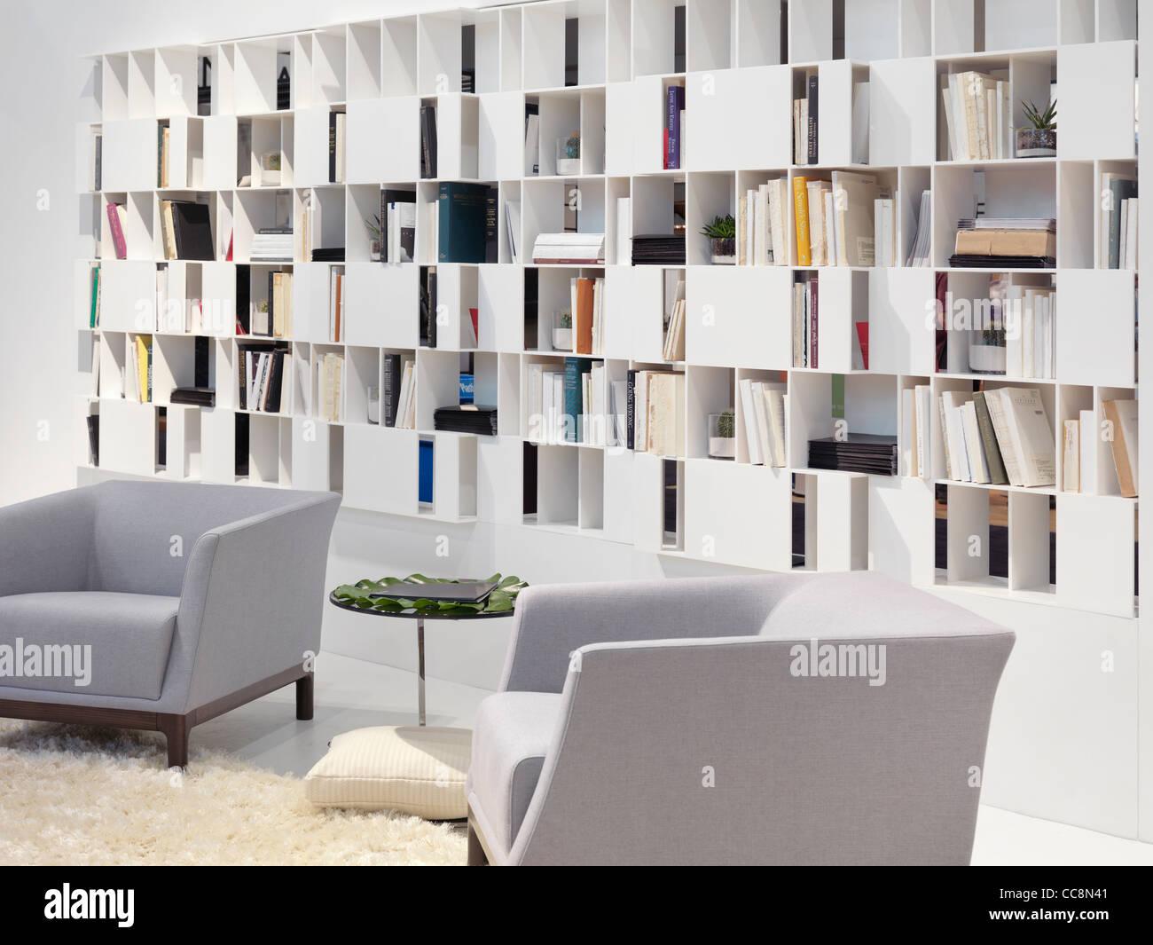 Wand Regal home Bibliothek zeitgenössischer Innenarchitektur ...
