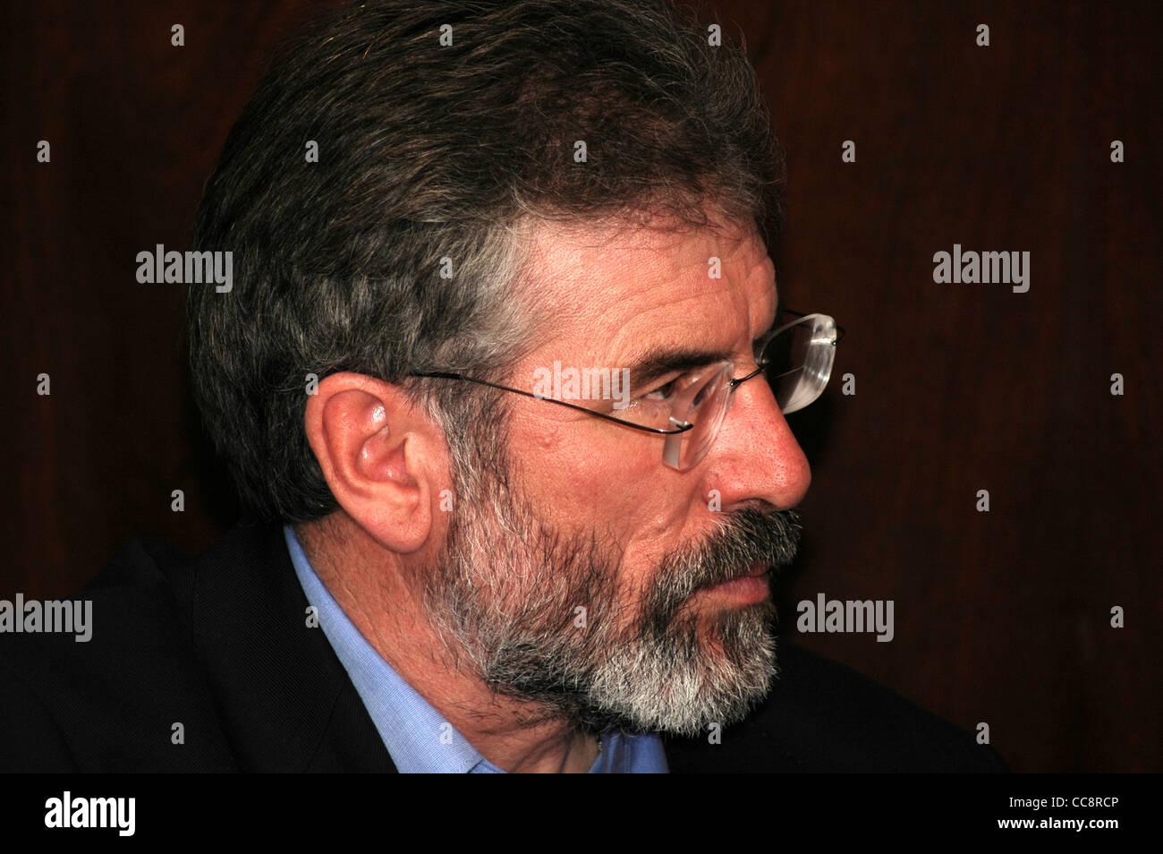 Gerry Adams, Sinn Féin Präsident und Mitglied des irischen Parlaments. Stockbild