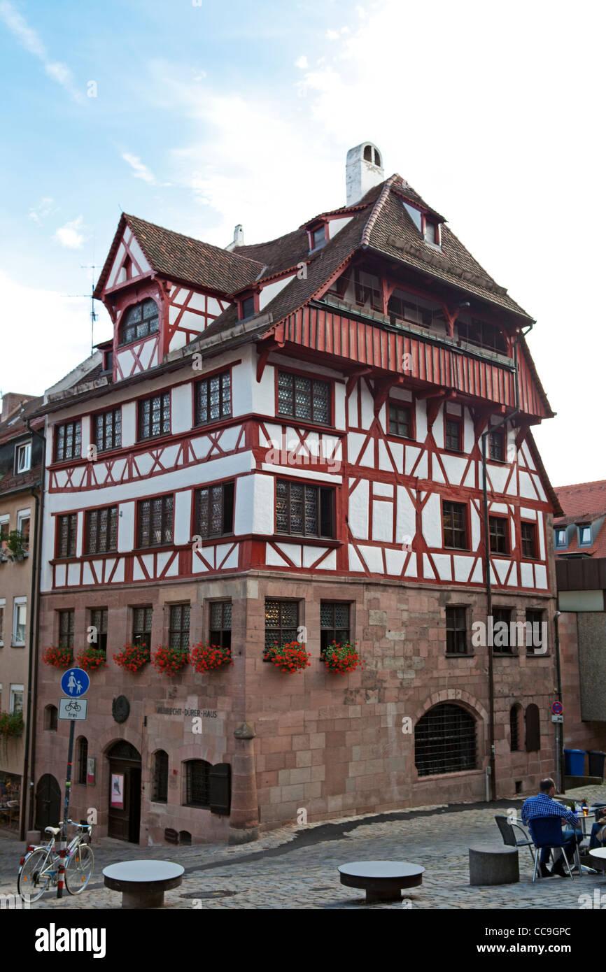 ALBRECHT DÜRER HAUS IN NÜRNBERG, DEUTSCHLAND Stockbild