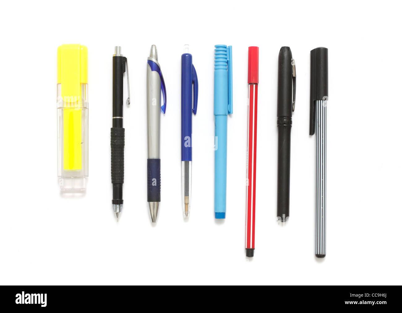 Verschiedene Stifte Stockbild