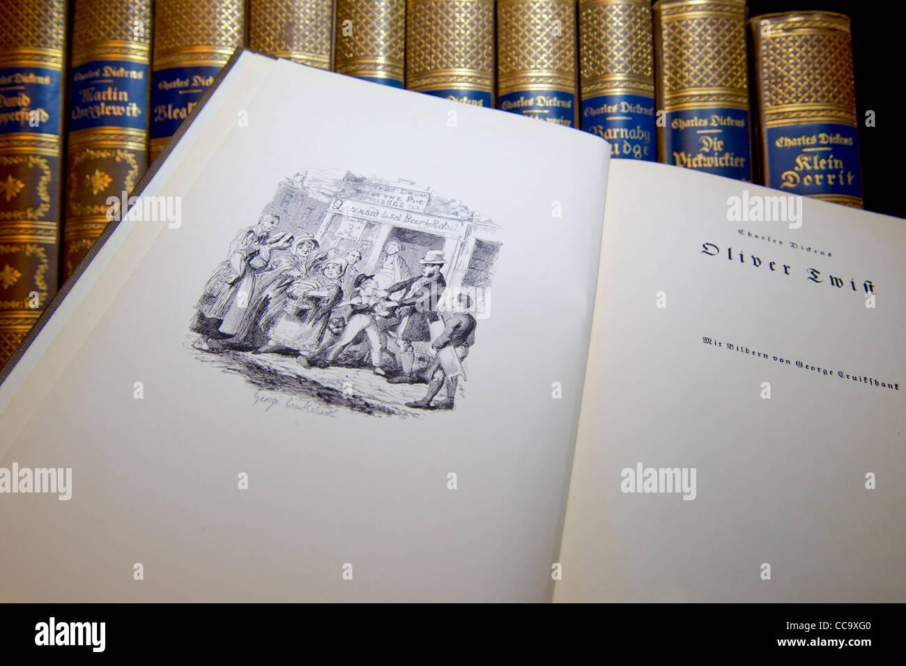 Sterben Sie Werke von Charles Dickens; Werke von Charles Dickens Stockbild