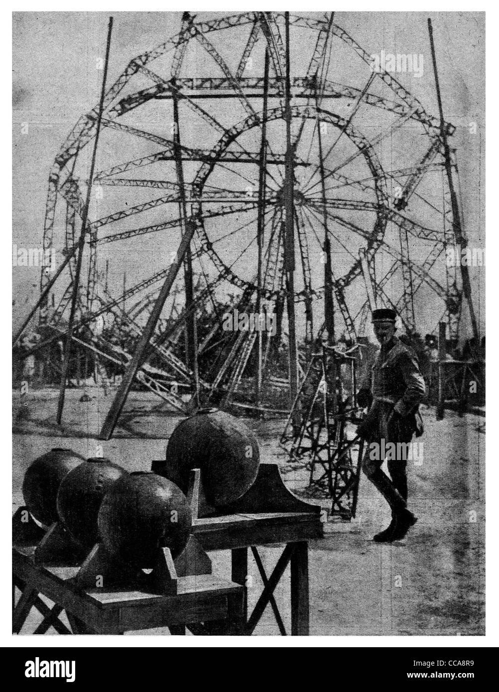 1916 Zeppelin Aluminium Rahmenarbeit umgebaut Französisch Bombe ...