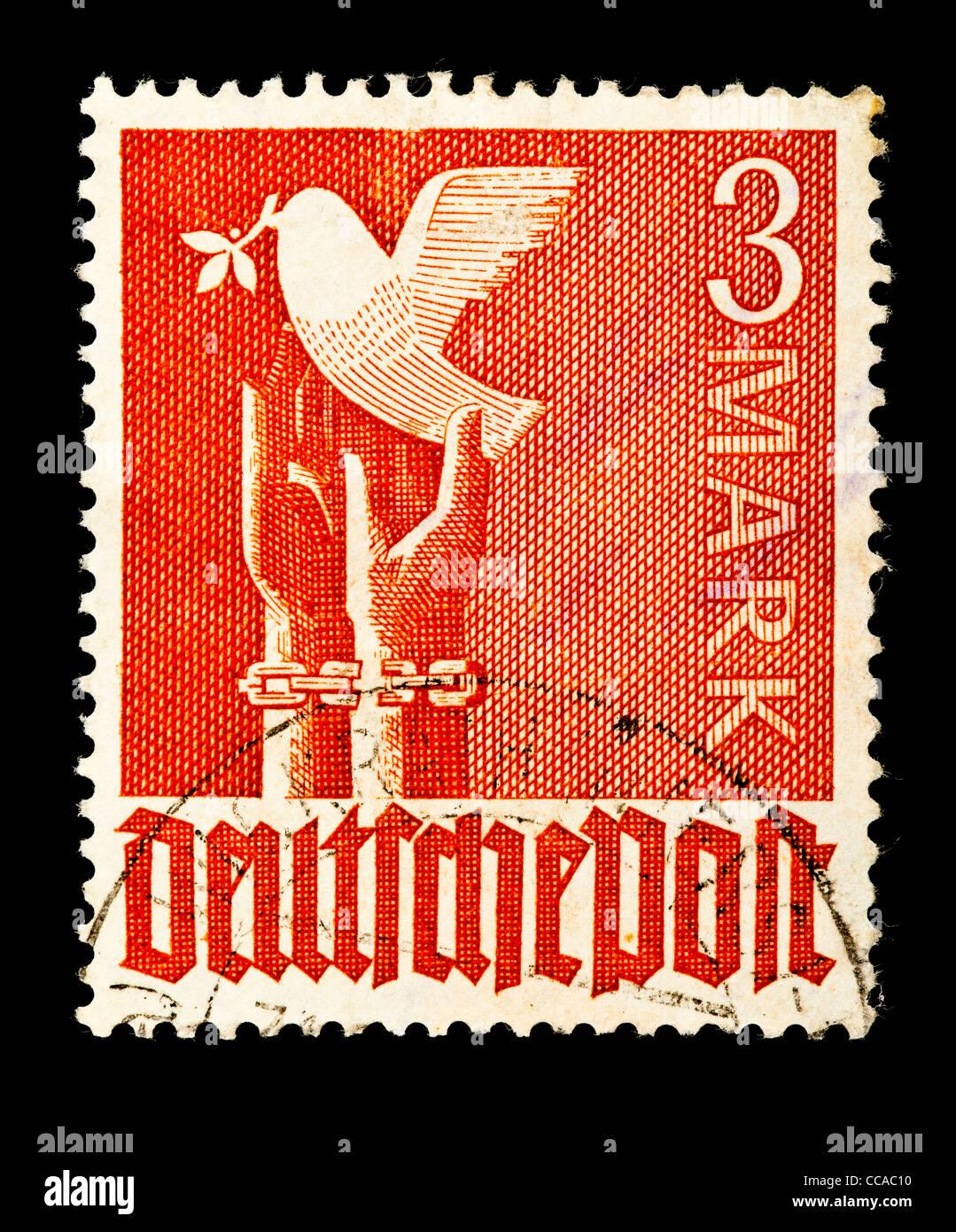 Briefmarke Deutsche Post Taube Hände 3 Mark 1947 Gestempelt