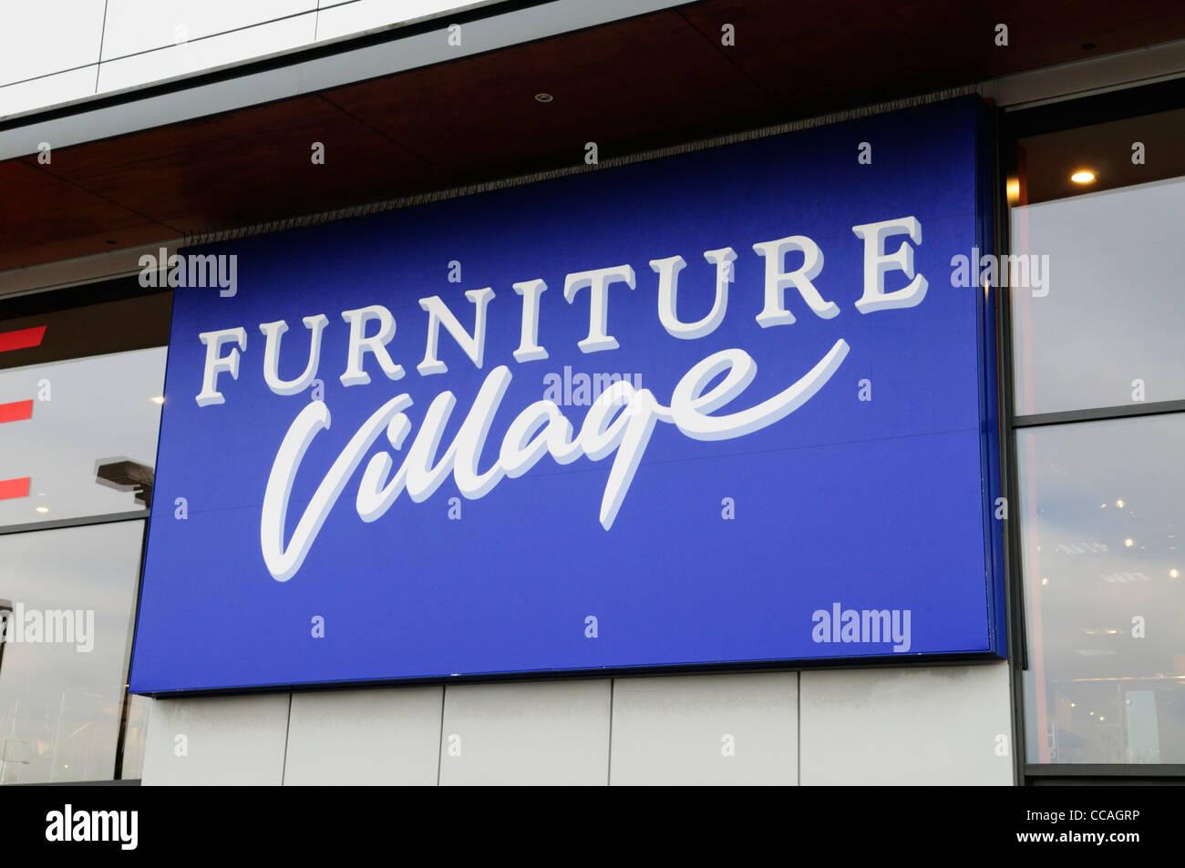 Village Möbel Shop Zeichen Cambridge England Uk Stockfoto Bild