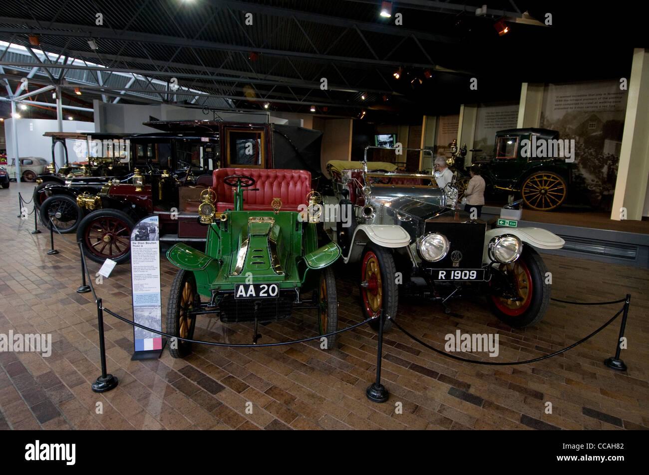 Beaulieu National Motor Museum, Nationalpark New Forest, Großbritannien. Stockbild