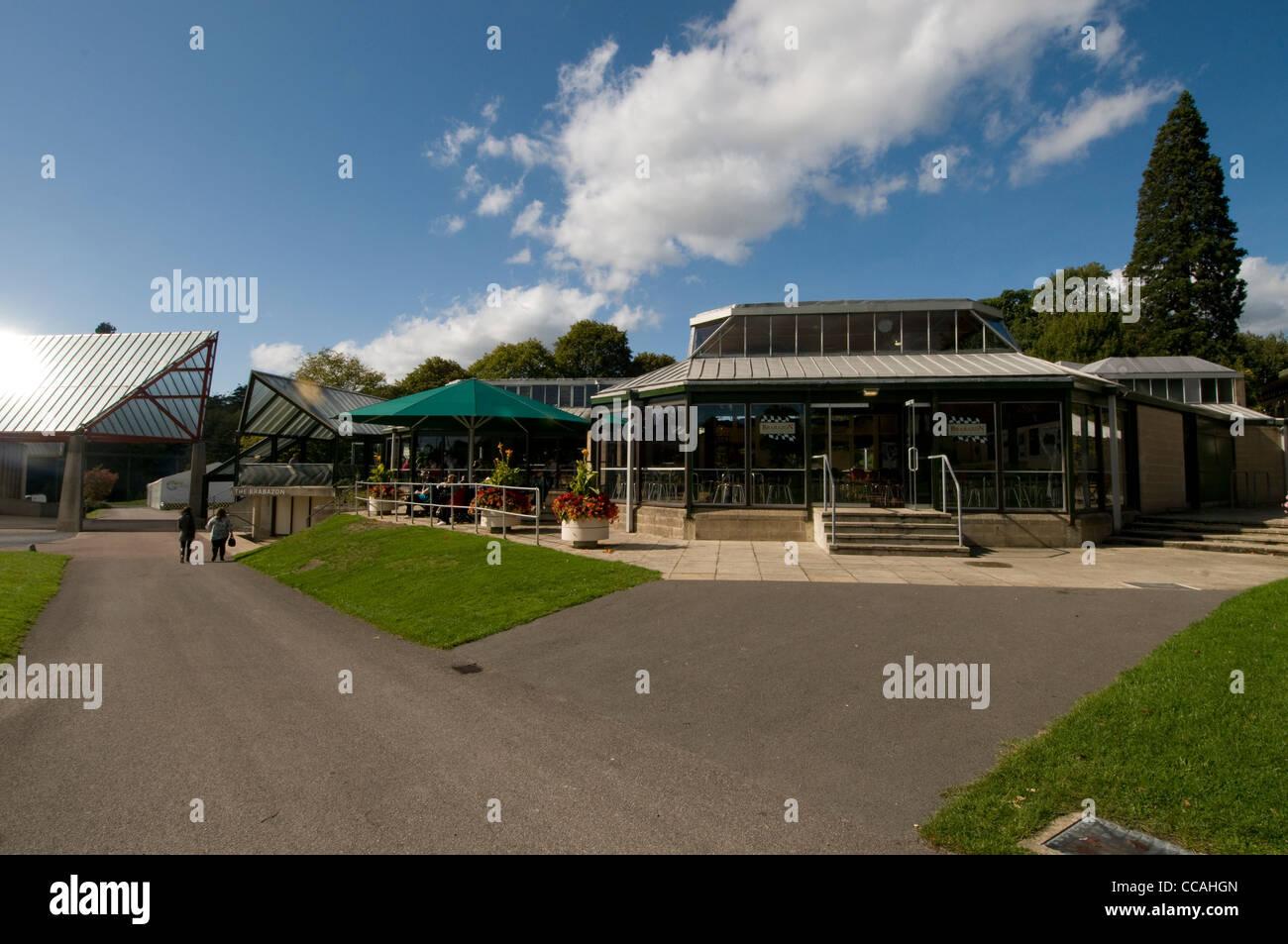 Das Hauptrestaurant im Beaulieu National Motor Museum im New Forest, Großbritannien Stockbild