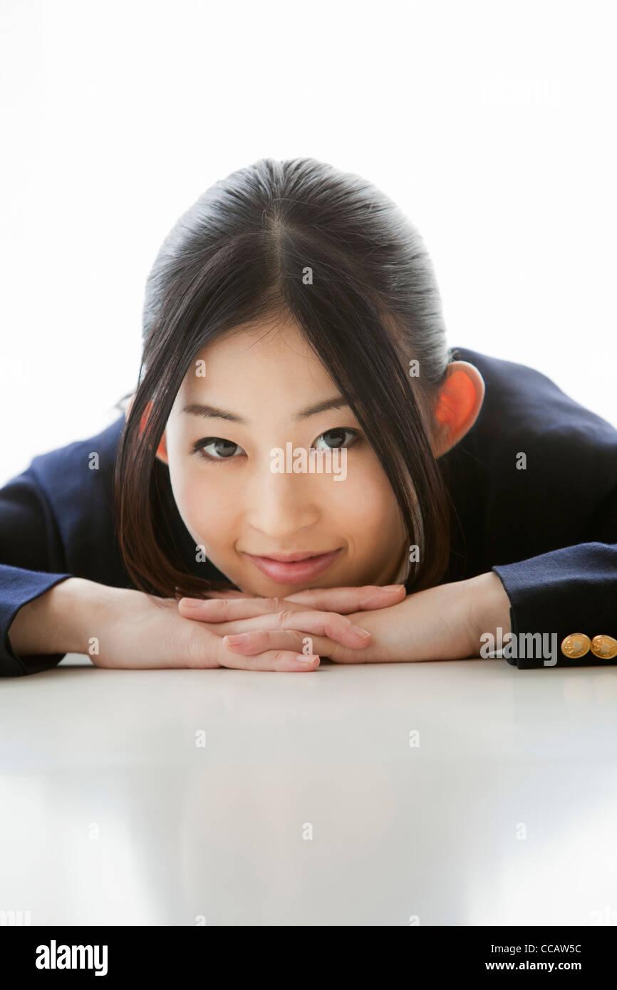 japanesegirl sehen durch die nasse