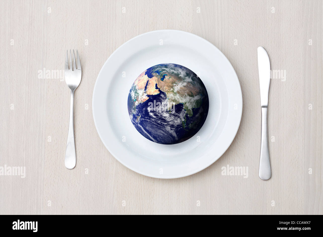 Hunger in der Welt Stockbild