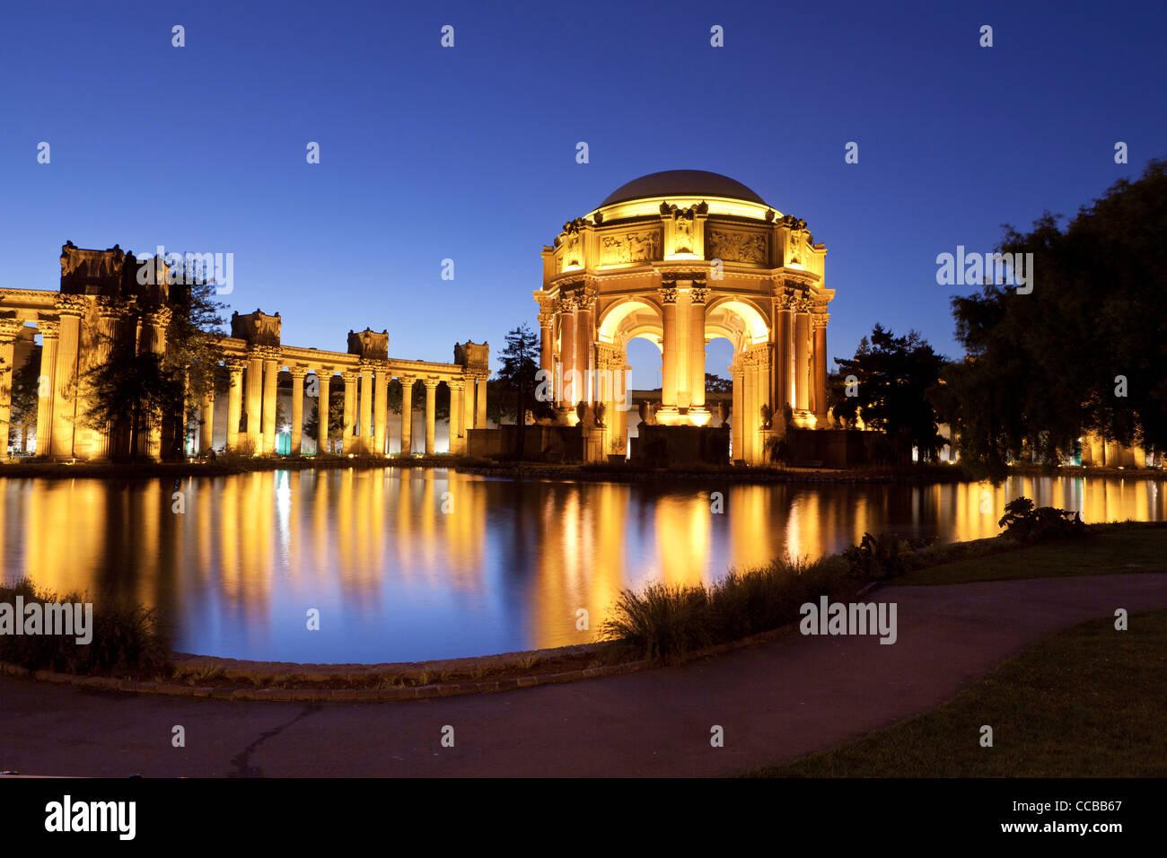 San Francisco Palace of Fine Arts Stockbild