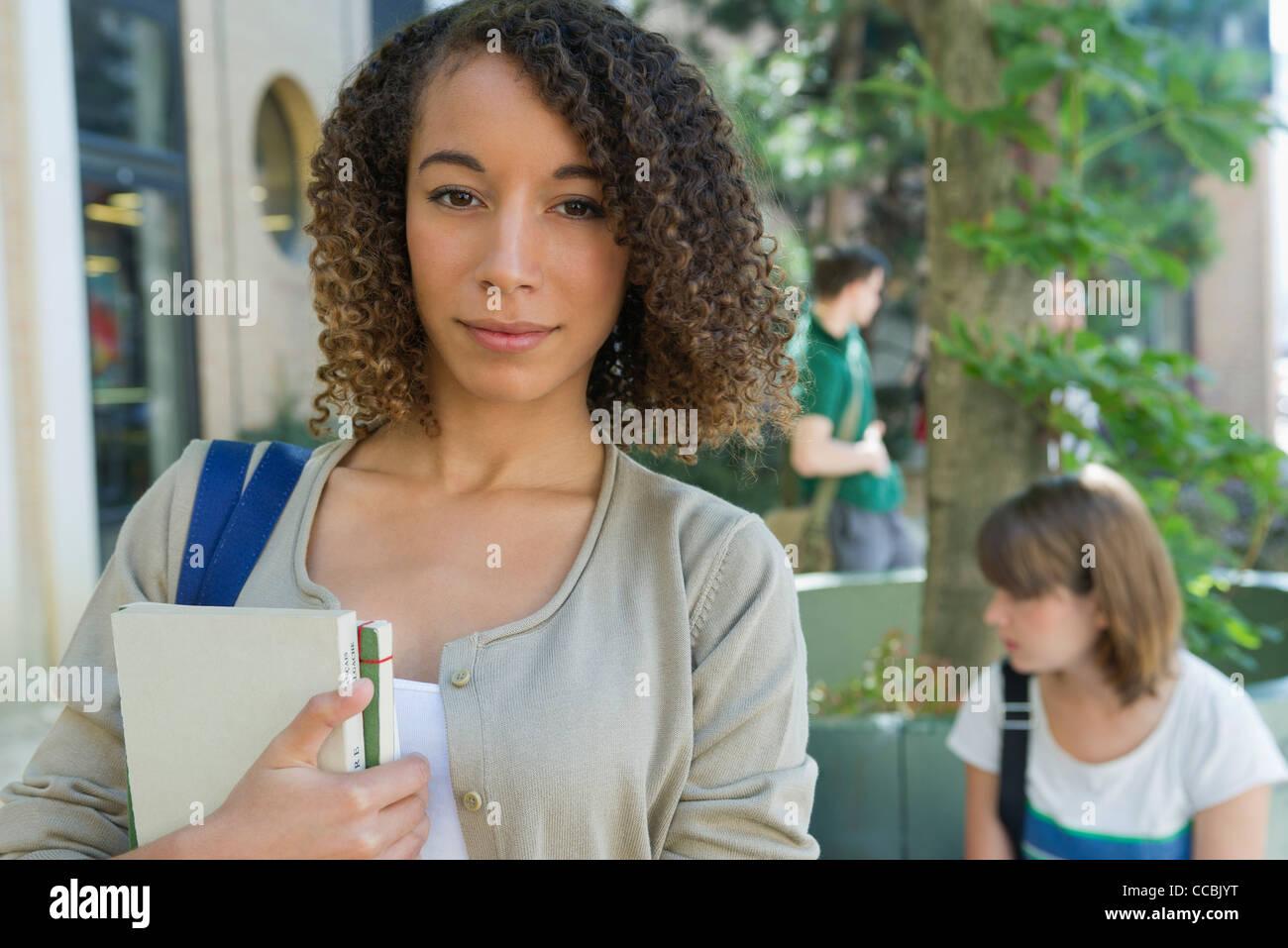 Weibliche College-Student, portrait Stockbild