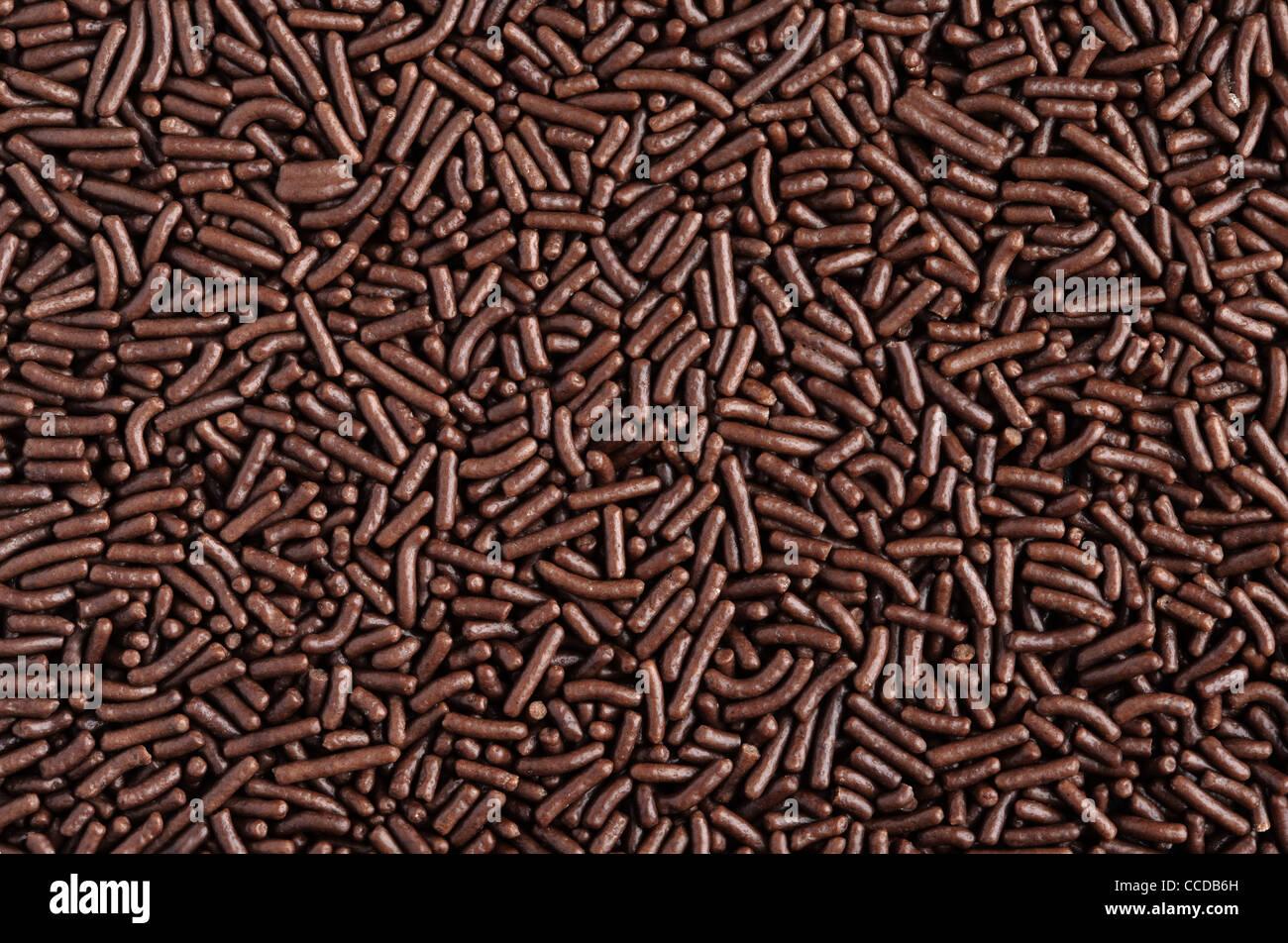 Schokolade Vermicelli Hintergrund (Schokostreuseln) Stockbild