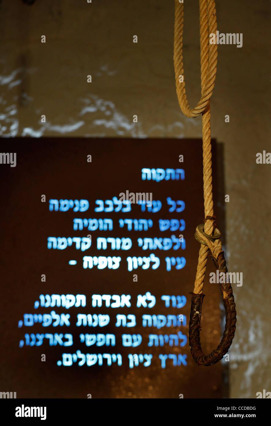 Seil Schlinge hängen vor der israelischen Nationalhymne in der ...