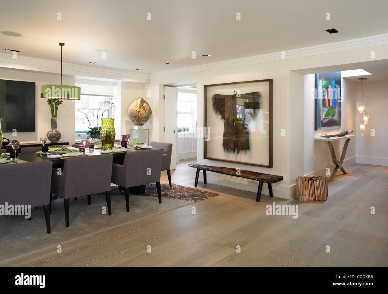 private penthouse wohnung in belgravia london essbereich zugang zum kitchen mid frame und. Black Bedroom Furniture Sets. Home Design Ideas