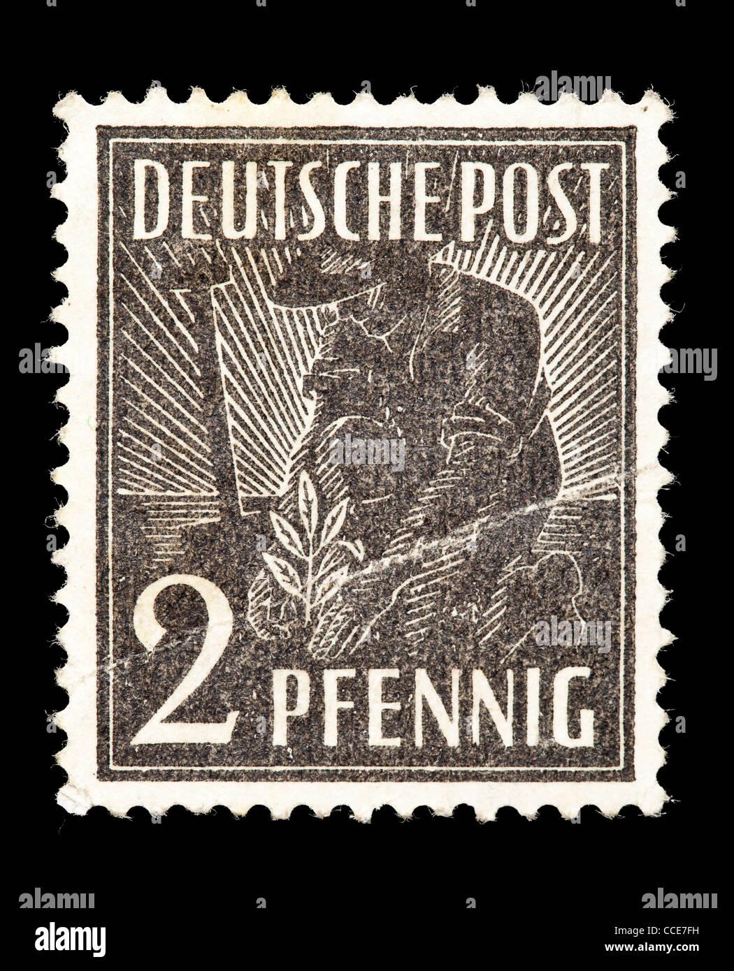 Briefmarke Deutsche Post Pflanzer 2 Pfennig 1947 Mint Zustand