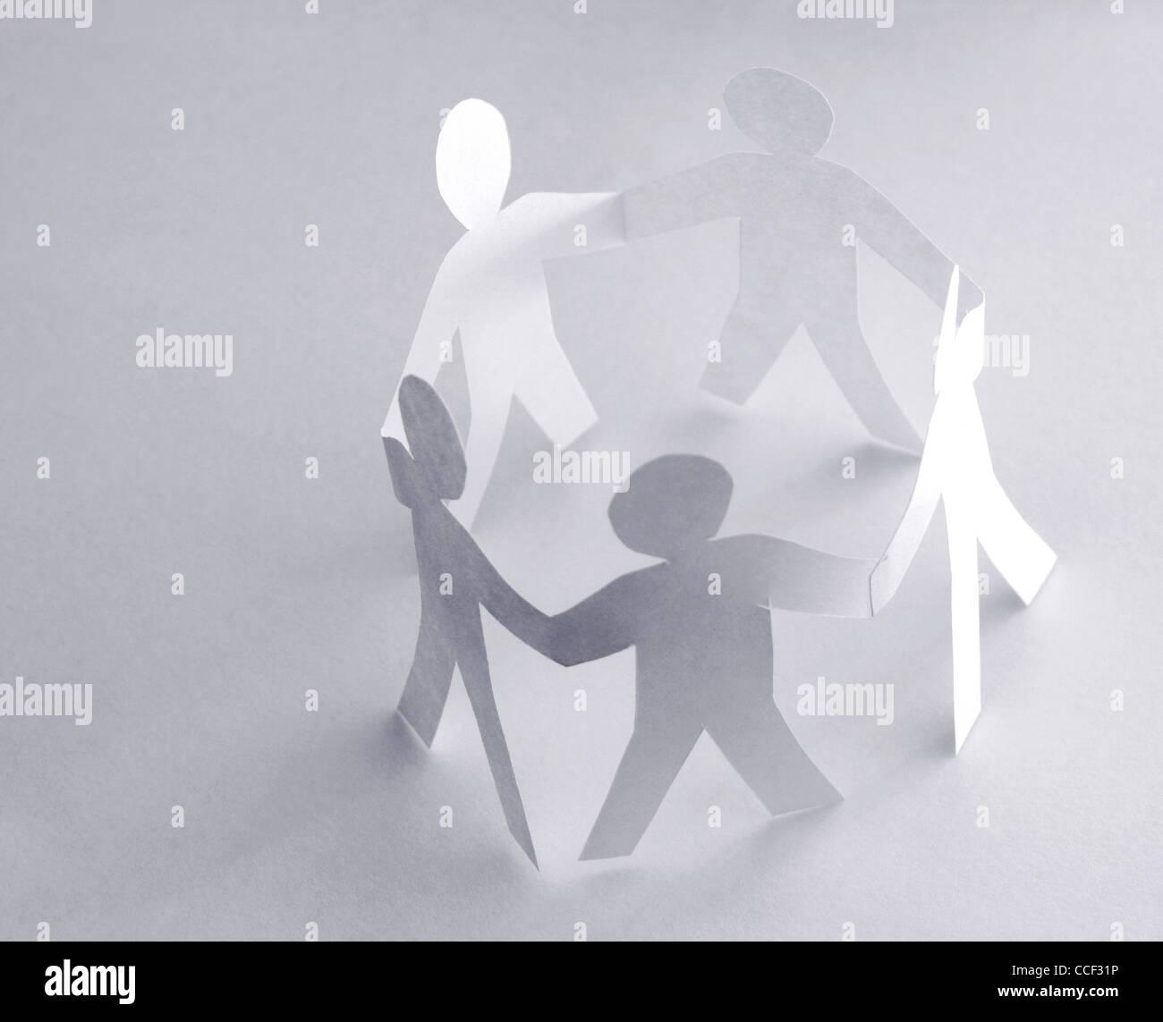 Kreis von Menschen Stockbild