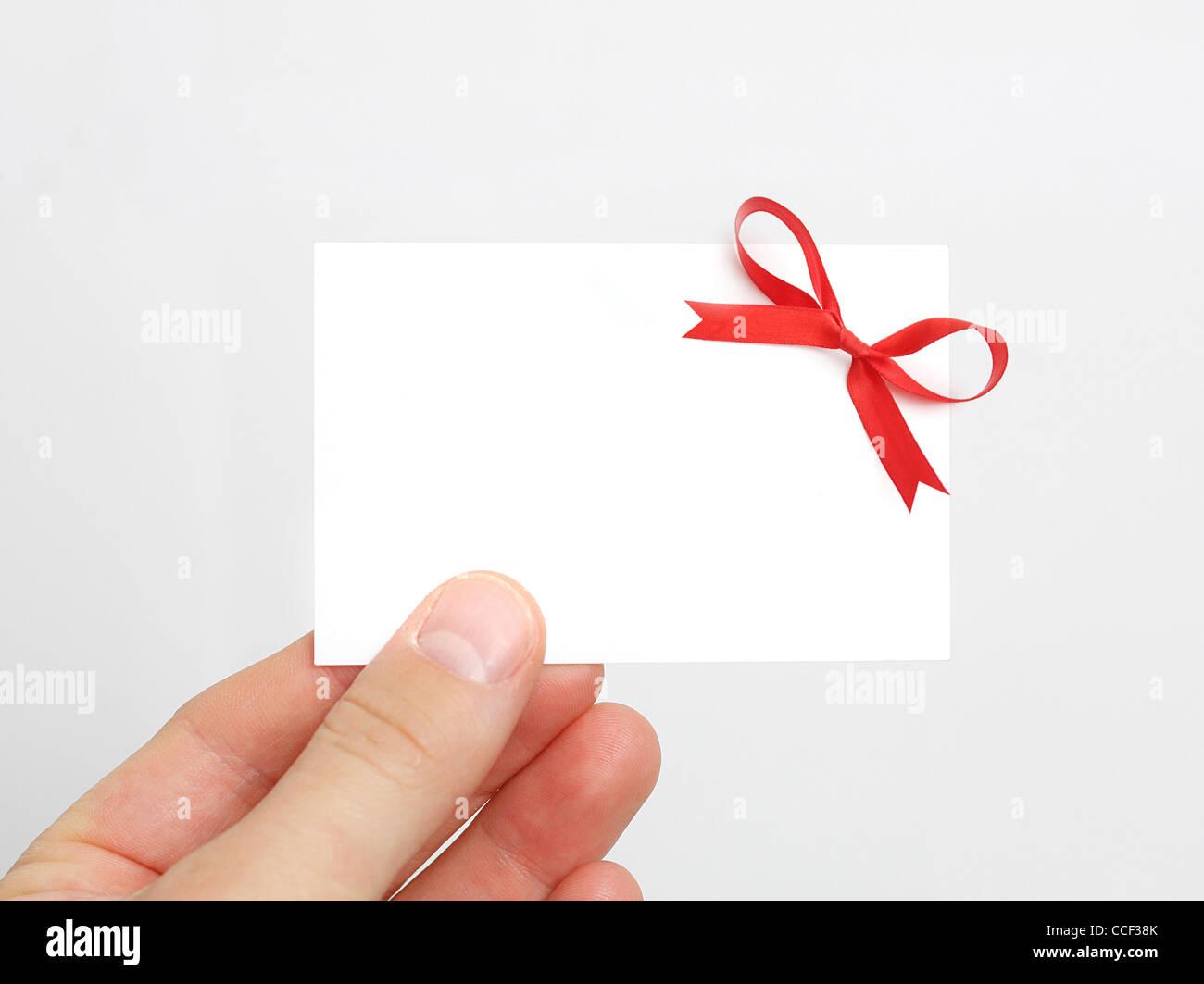 Geschenk-Karte Stockfoto, Bild: 42128483 - Alamy