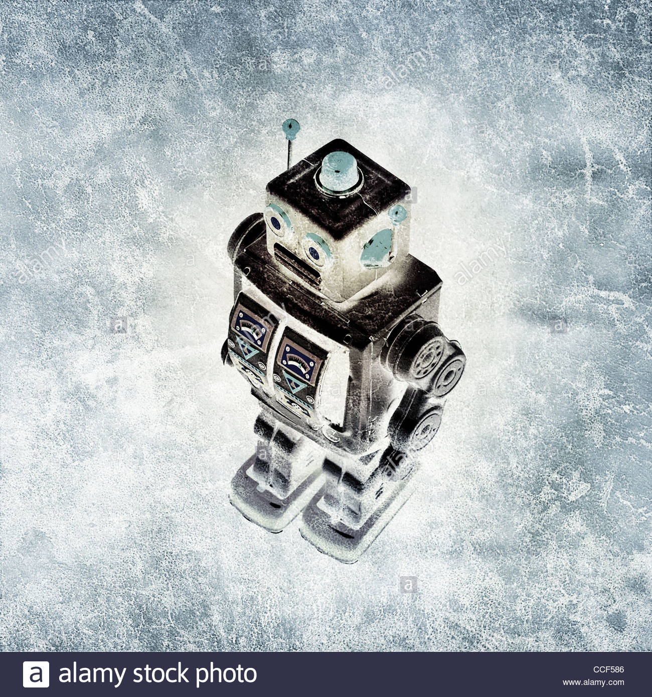 Bildende Kunst Retro-Zinn Roboter Stockbild