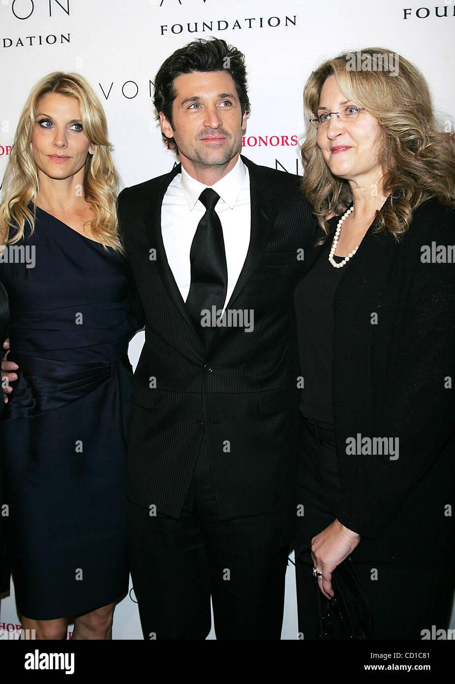 28 Oktober 2008 New York New York Usa Patrick Dempsey Frau