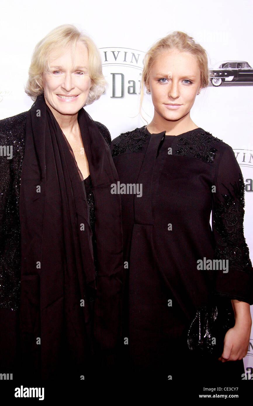 Glenn Close Und Tochter Annie Maude Starke Premiere Von Der Broadway