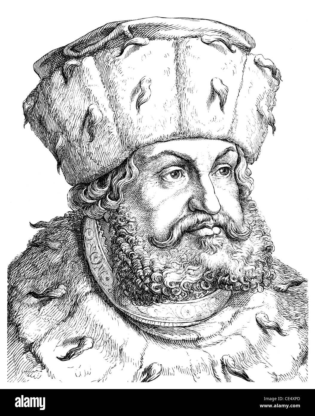 Friedrich III. und Friedrich dem weisen, 1463-1525, Kurfürst von Sachsen, Deutschland Stockbild