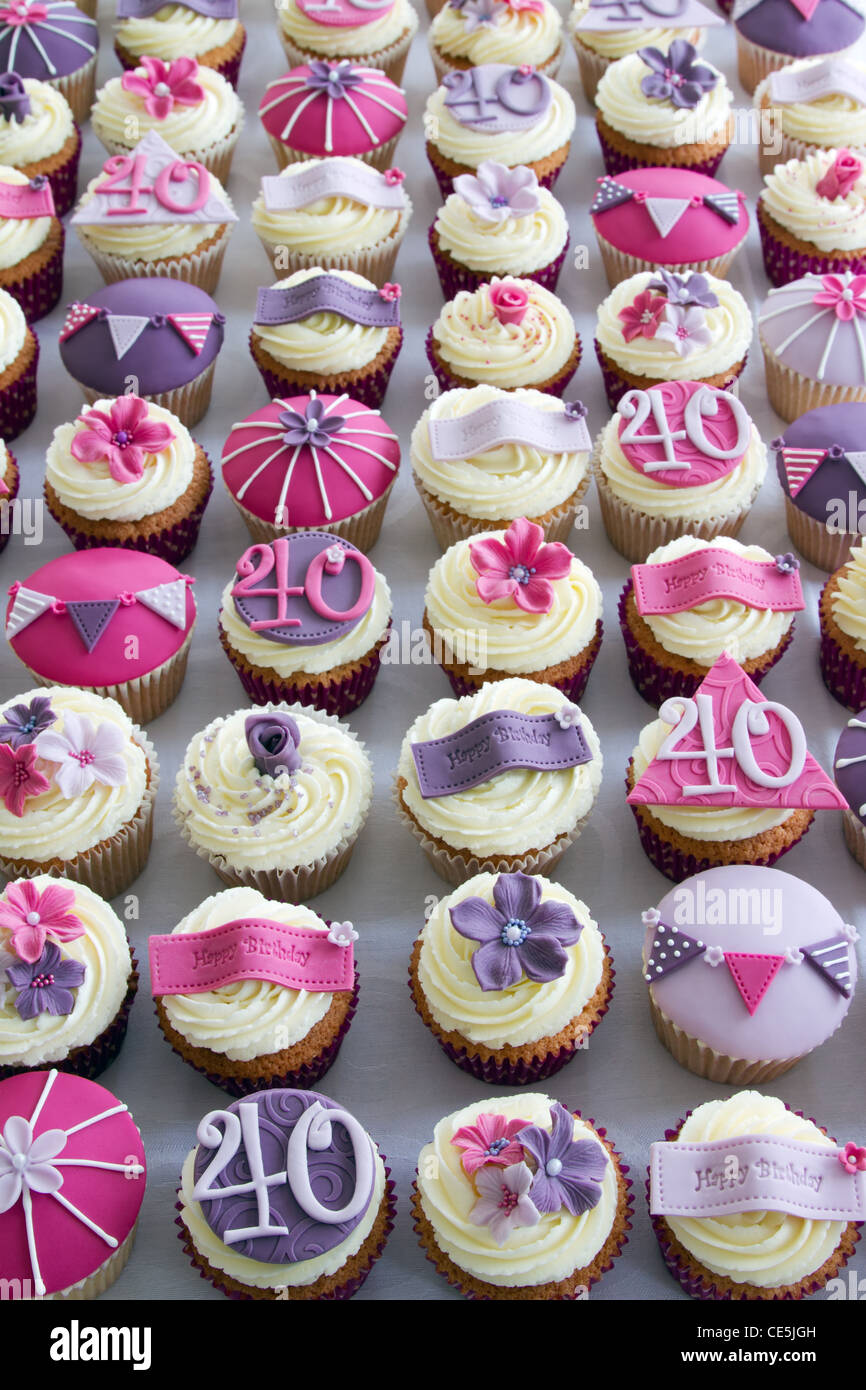 40 Geburtstag Cupcakes Stockfoto Bild 43150257 Alamy