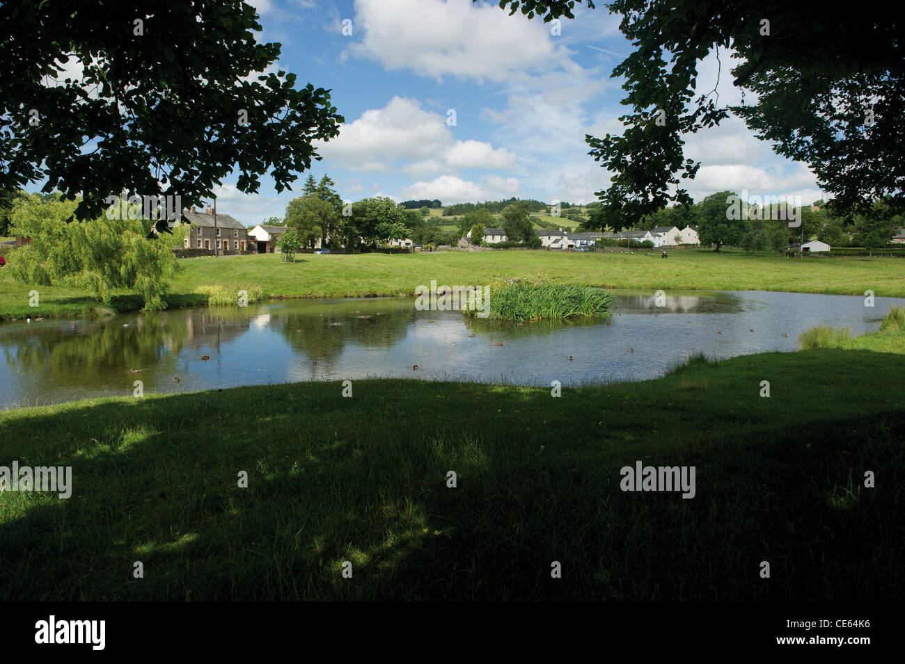Der Ententeich in Caldbeck Cumbrian Dorf Lake District UK English Countryside Stockbild