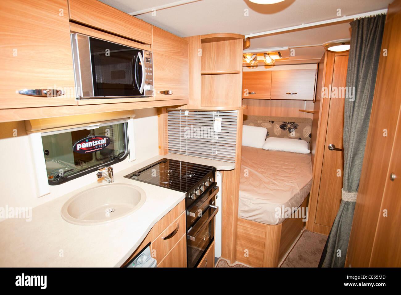 Holiday Caravan Interior Stockfotos & Holiday Caravan Interior ...