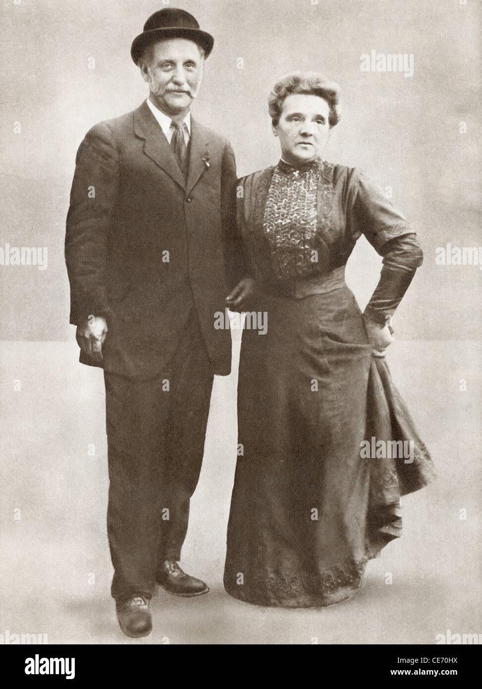 George Lansbury, 1859 ? 1940 mit Frau Lansbury. Britischer Politiker, Sozialisten, christlichen Pazifisten und Zeitungsverleger Stockbild